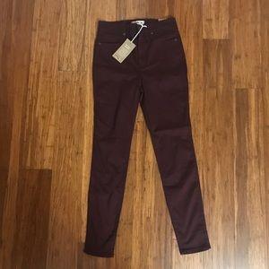 "Madewell Burgundy 10"" High-Rise Skinny Jeans 181"